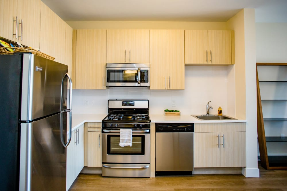 Stainless steel appliances at Bedford Hall