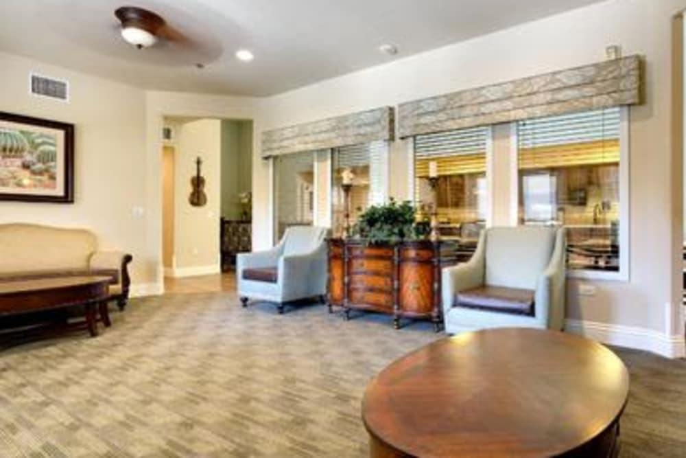 Beautiful living room at Pacifica Senior Living Green Valley