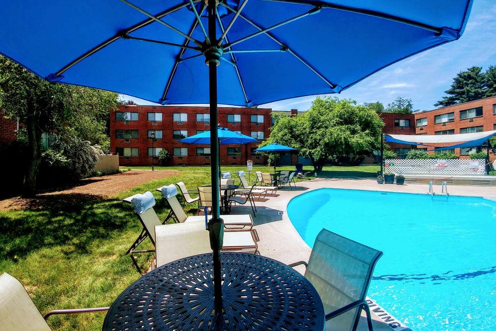 Poolside view at Westgate West Hartford in West Hartford