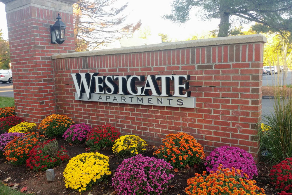 Entrance sign at {location_name}} in West Hartford