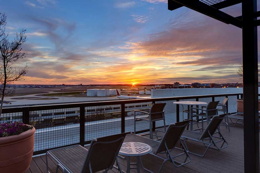 Enjoy many Georgia sunsets on The Atlantic Aerotropolis's patio