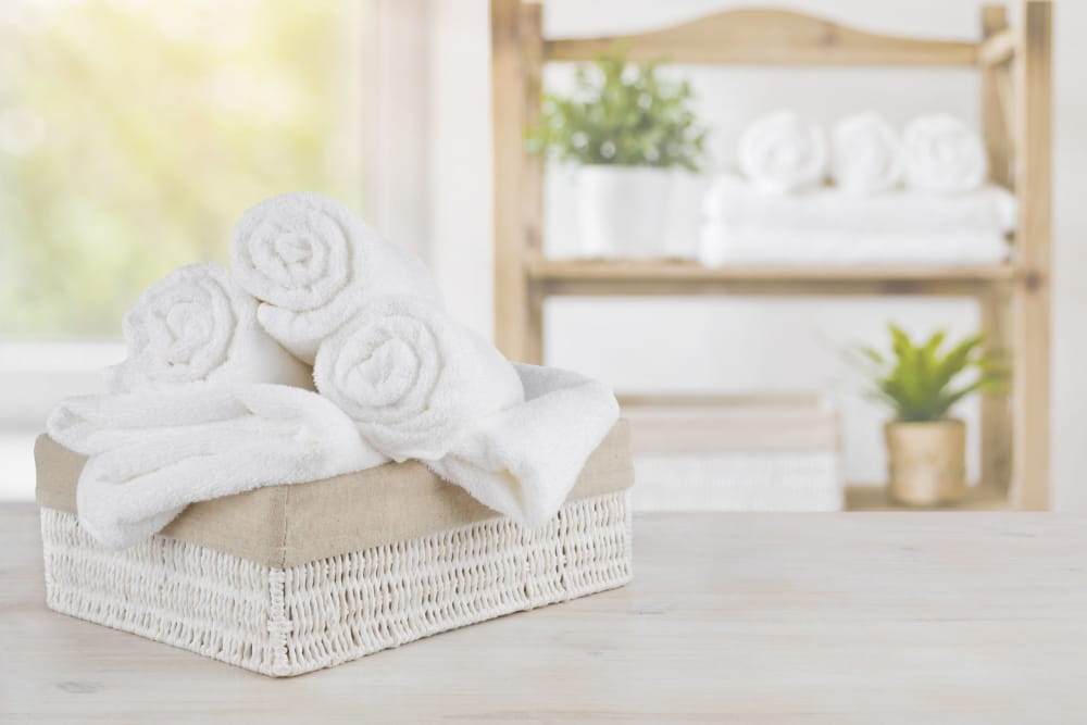 Photo of stacked towels