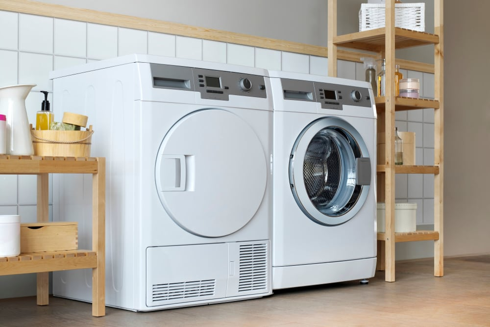 Albemarle Square Apartments include a washer and dryer
