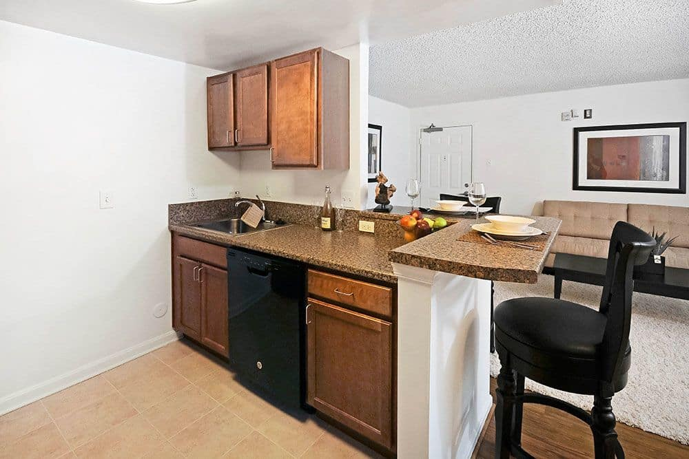 Arbor View kitchen with breakfast bar