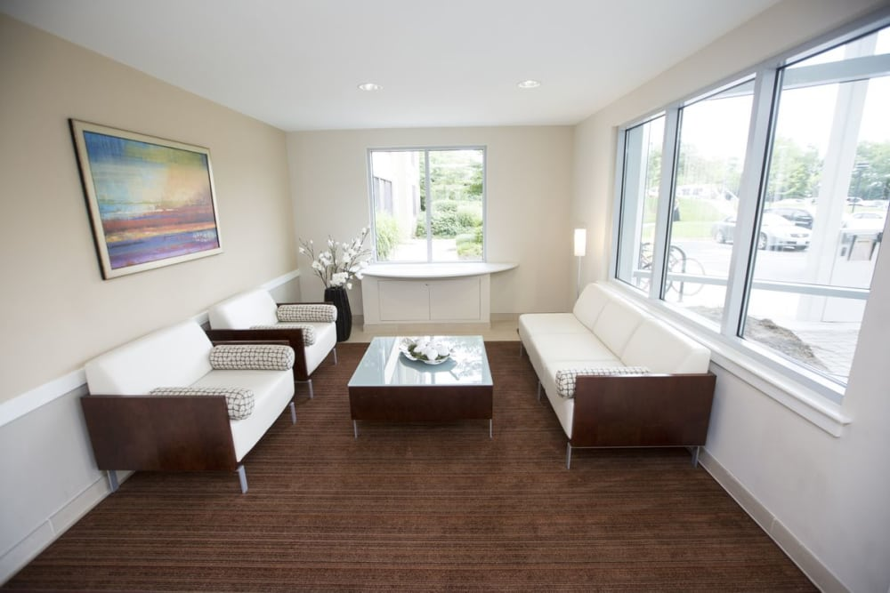 Edgewood Commons leasing office waiting room