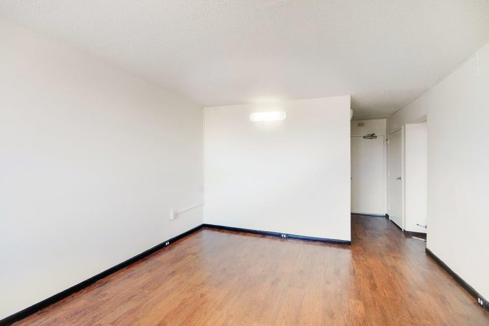 Hardwood floors at Edgewood Commons