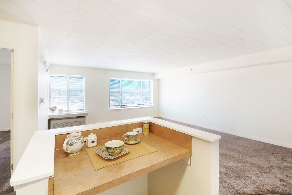 Kitchen nook at Edgewood Commons