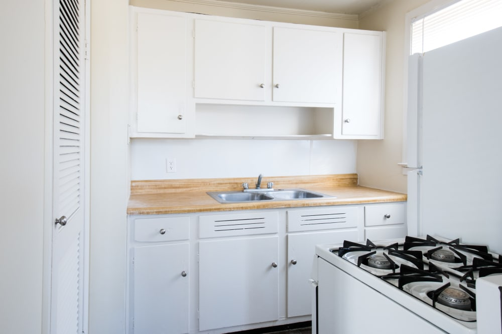 Fully equipped kitchen at Fernwood Homes