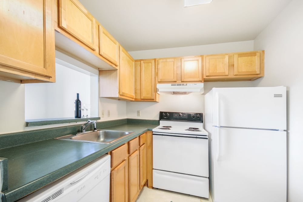 Fully equipped kitchen at Grace Place Apartments in Richmond