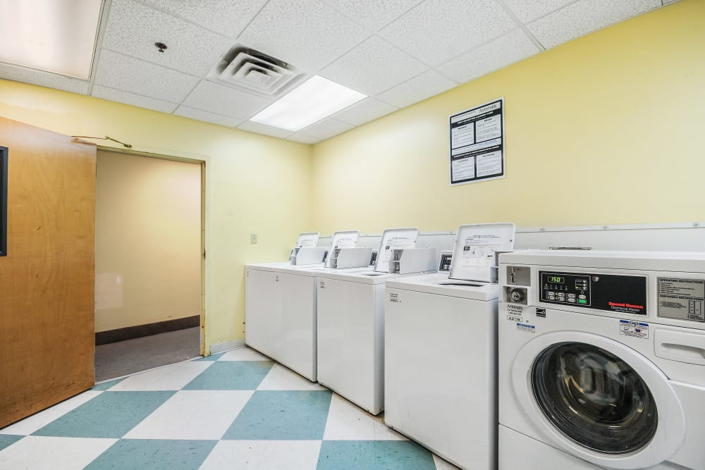 On-site laundry room at Grace Place Apartments