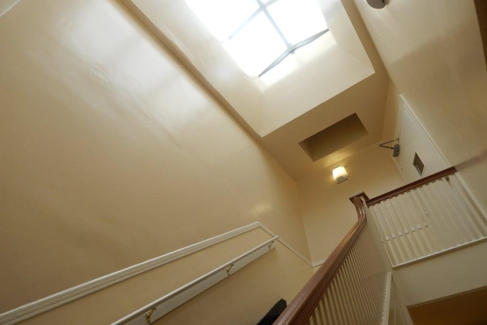 R Street interior stairwell