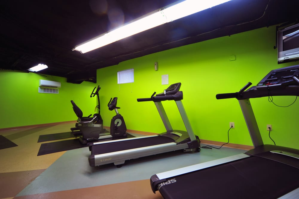 Cardio equipment at Montgomery Arms Apartments