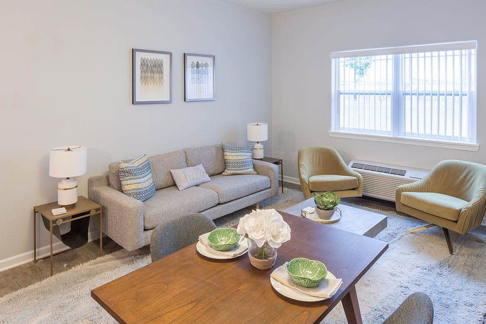 Our apartments in Rochester, NY showcase a luxury living room