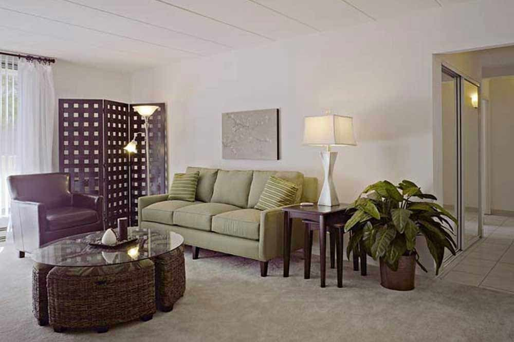 Living room at Park Towers Apartments in Richton Park