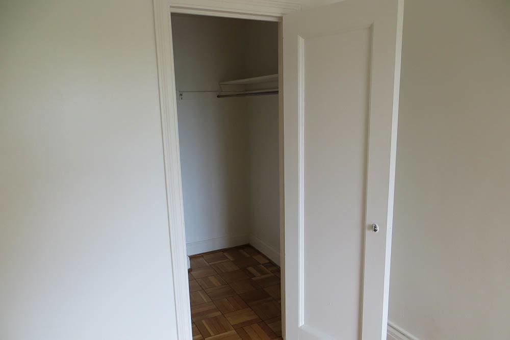Walk-in closet at 520 East Ave