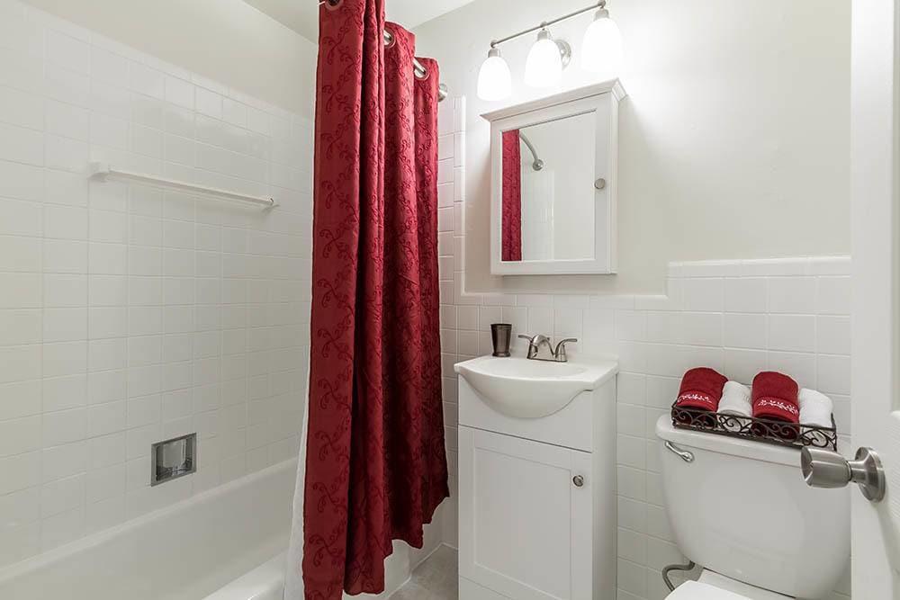 Luxury bathroom at Penfield Village Apartments