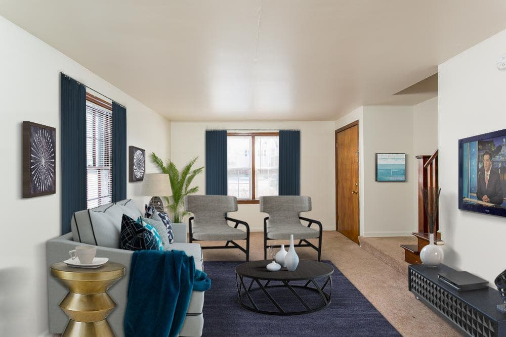 Cozy living room in apartments at Park Place