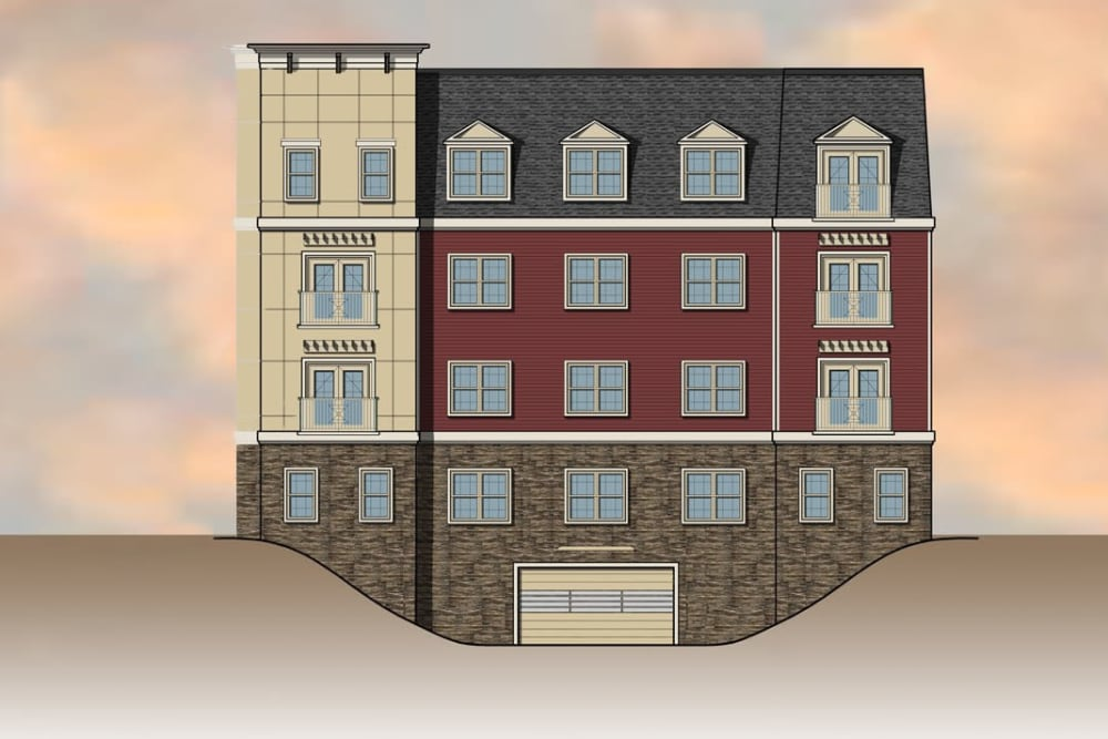 Front view of apartments design at Ellison Heights Apartments in Rochester, NY