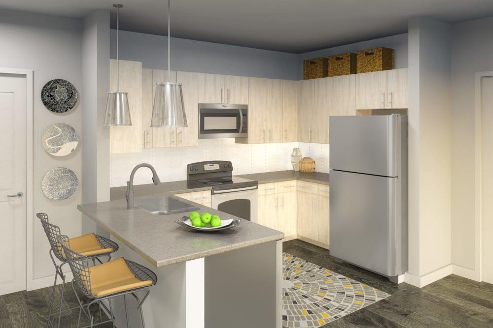 Modern kitchen at Ellison Heights Apartments