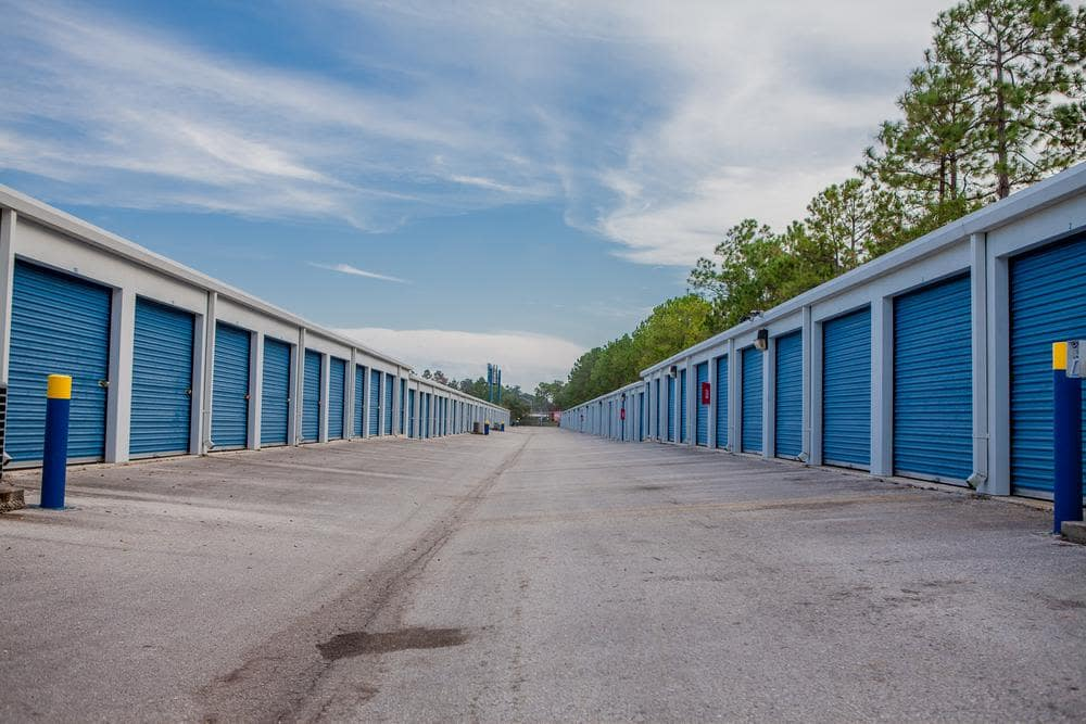 Outside view at the storage rooms on Atlantic Self Storage, in Jacksonville