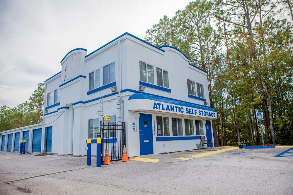 Entrance at Atlantic Self Storage, in Jacksonville