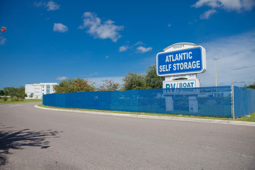 Atlantic Self Storage fence