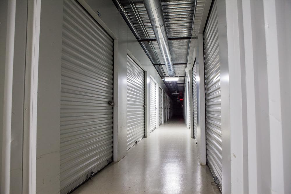 Interior storage rooms at Atlantic Self Storage, in Jacksonville