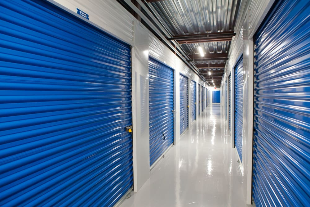 Another interior hallway view at Atlantic Self Storage in Atlantic Beach, FL