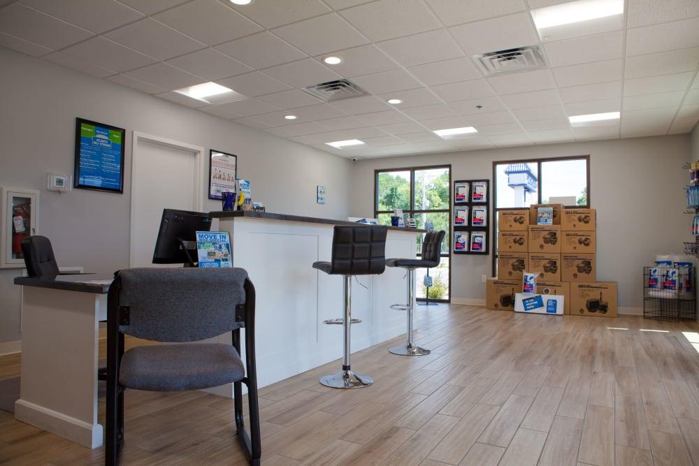 Office interior at Atlantic Self Storage facility in Atlantic Beach, FL