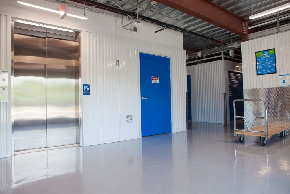 Elevators make moving in and out easy at Atlantic Self Storage in Atlantic Beach, FL