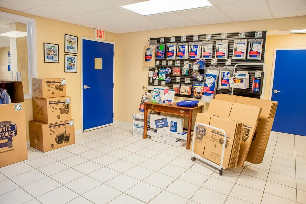 Moving supplies and moving boxes at Atlantic Self Storage, in Jacksonville