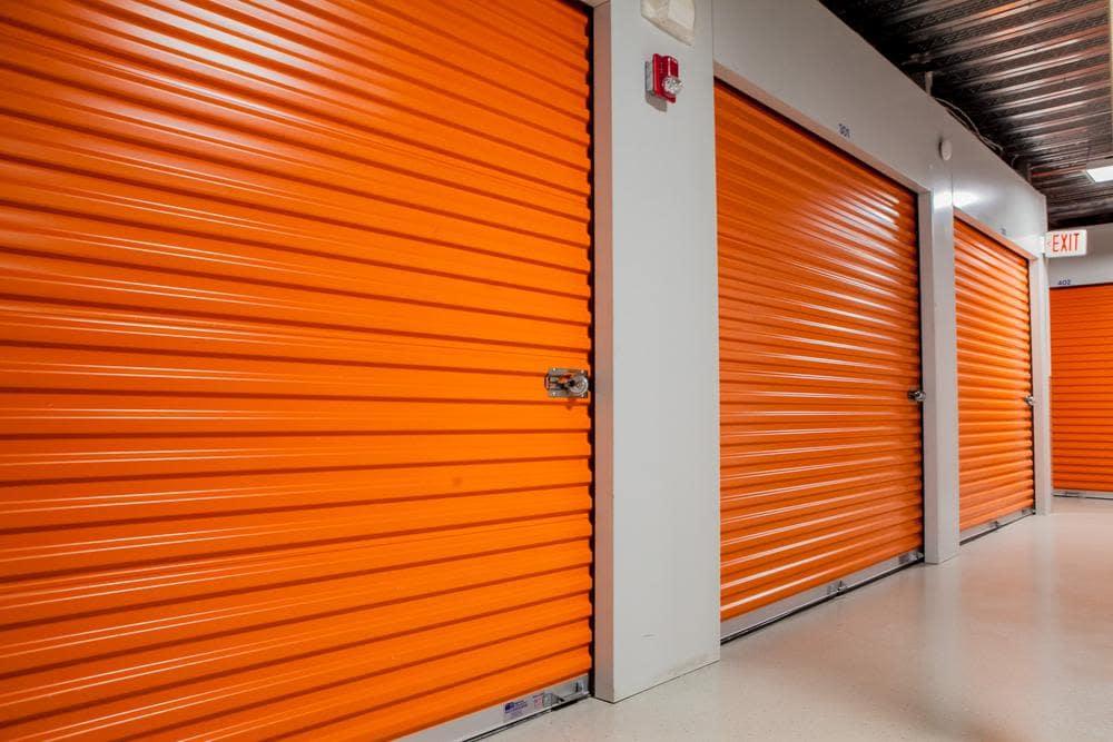 Interior storage rooms at Atlantic Self Storage, in Jacksonville