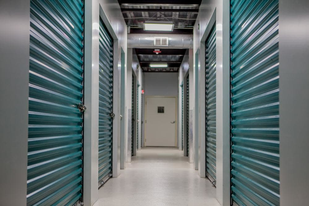 Interior storage rooms at Atlantic Self Storage