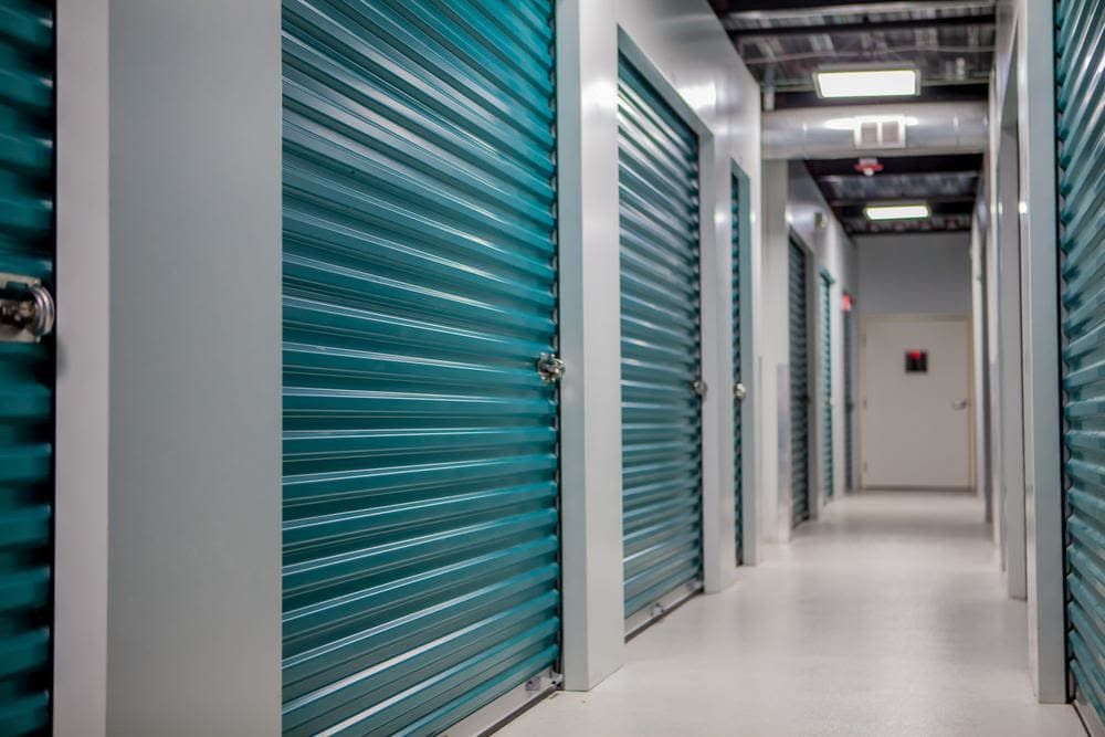 Inside the building at Atlantic Self Storage, we have amplious and protected storage rooms