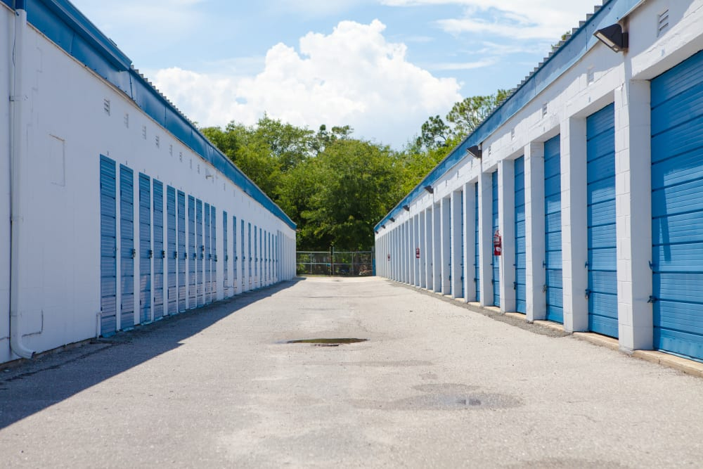Wide driveways at Atlantic Self Storage