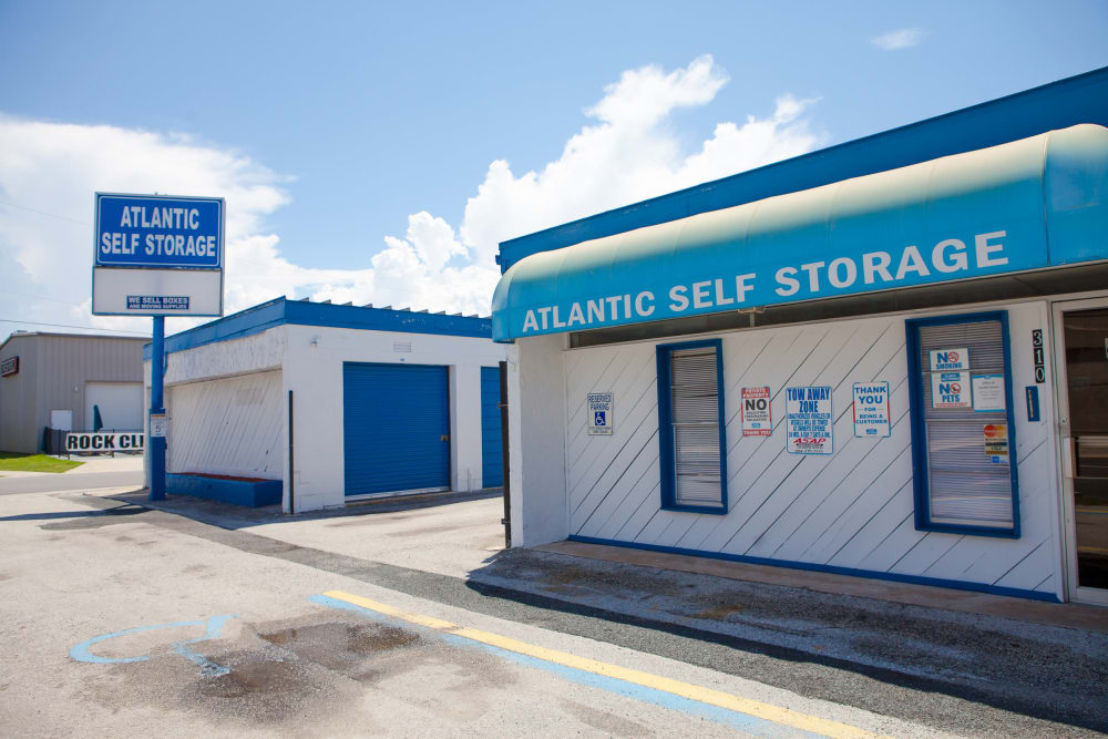 Entrance to Atlantic Self Storage