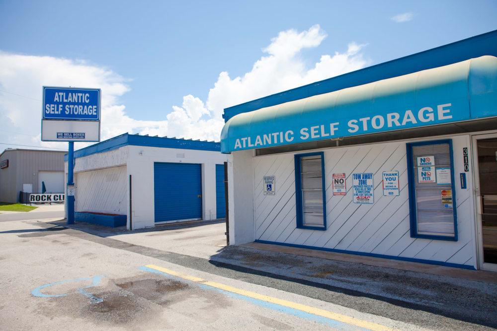 Entrance To Atlantic Self Storage