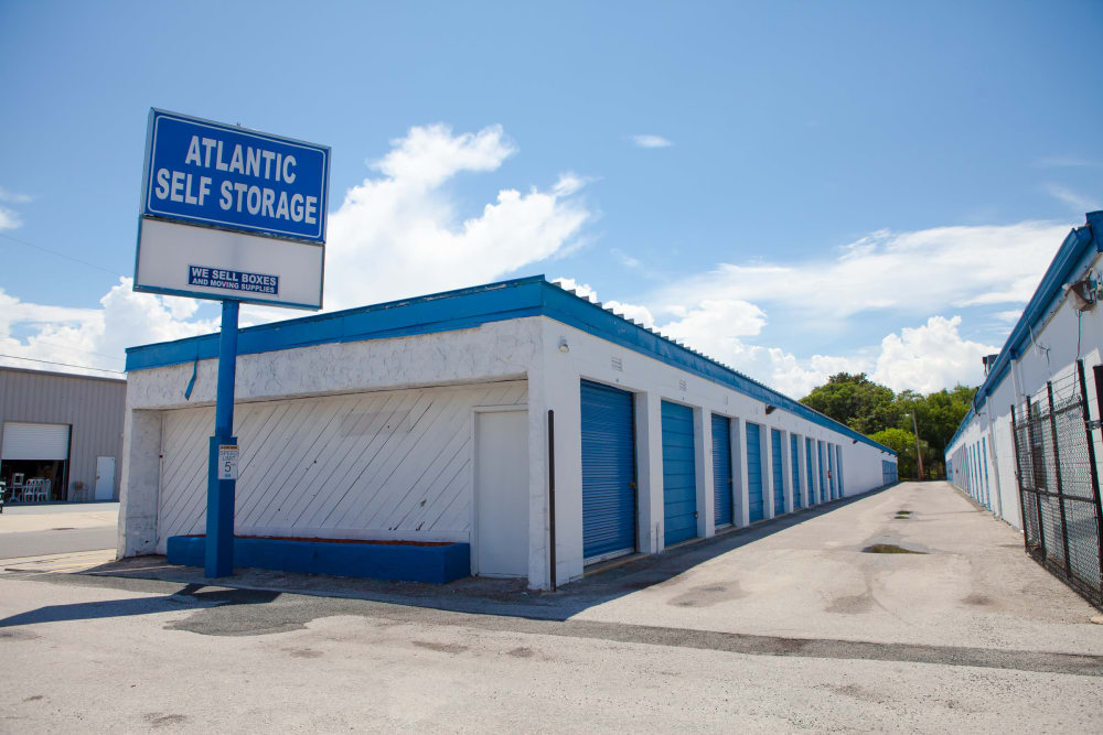 Atlantic Self Storage welcome sign