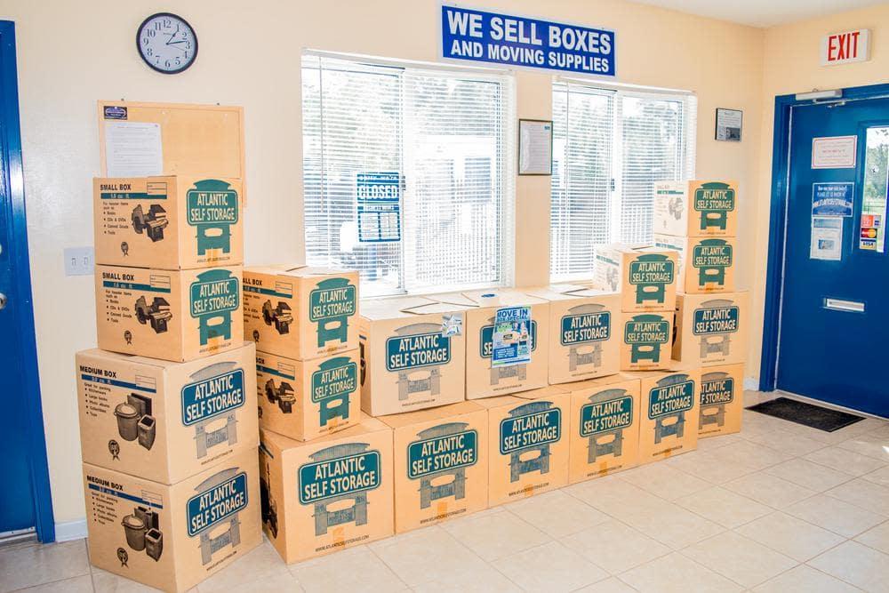 Boxes and Moving Supplies at Atlantic Self Storage, in Callahan