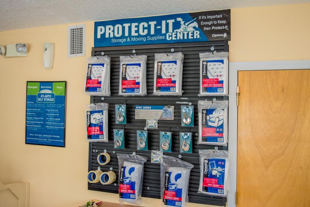 Protection Supplies at Atlantic Self Storage, in Callahan