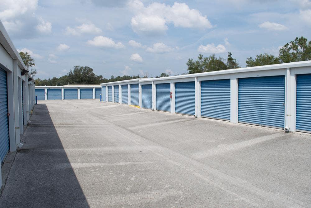 Exterior of amplious storage places at Atlantic Self Storage, in Callahan