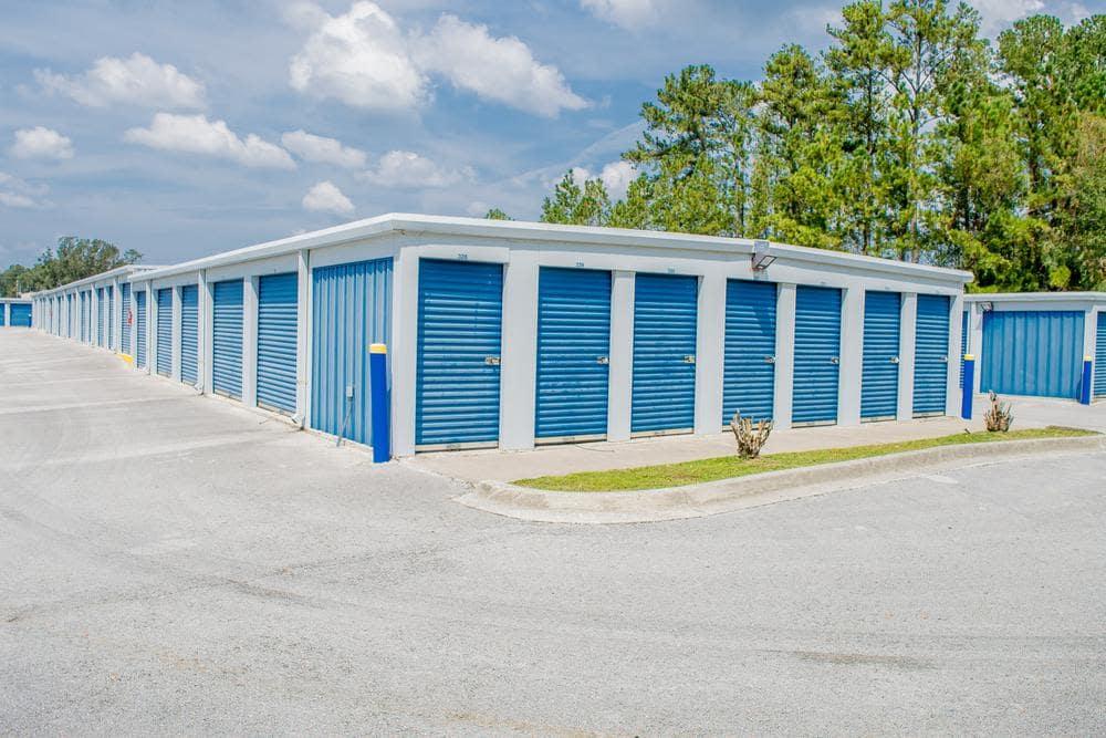 Outside storage rooms at Atlantic Self Storage, in Callahan