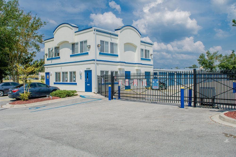 Main building exterior at Atlantic Self Storage, in Callahan