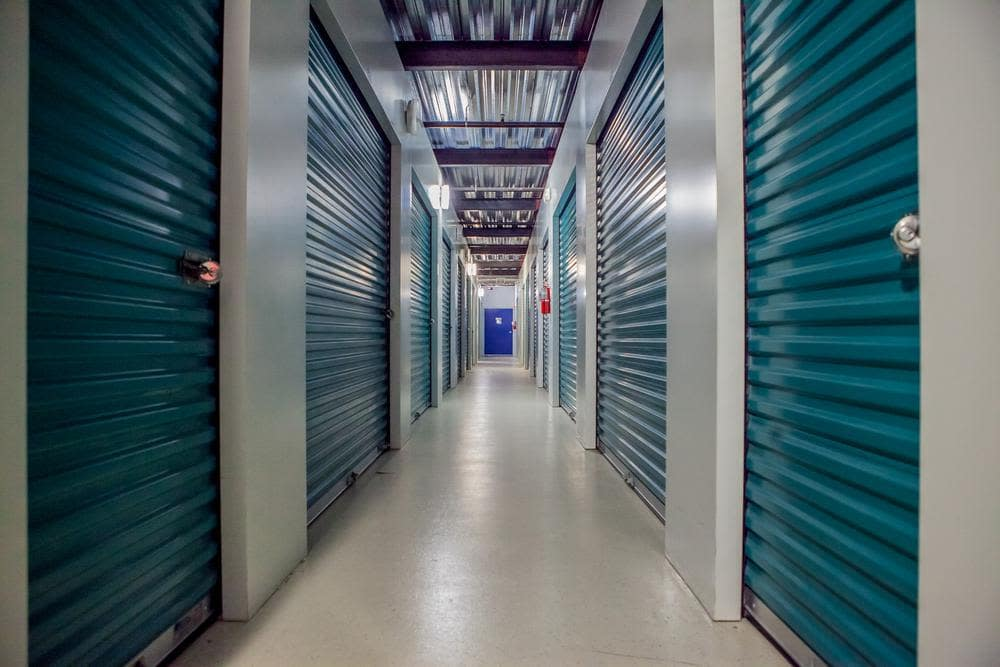 Inside units at Atlantic Self Storage