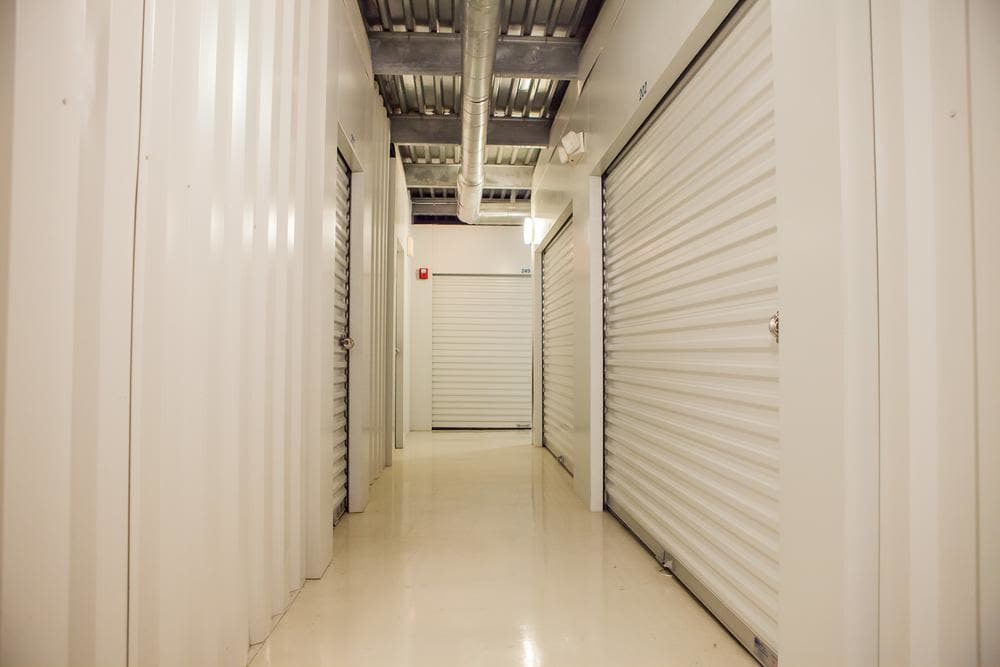 Inside storage units at Atlantic Self Storage, in Jacksonville