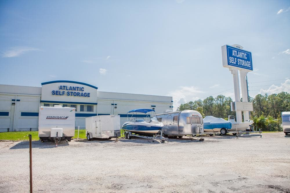 We offer an amplious space for your use at Atlantic Self Storage