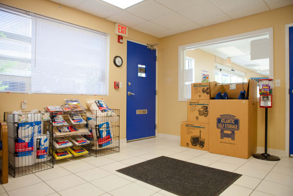 Atlantic Self Storage sells boxes and packing supplies
