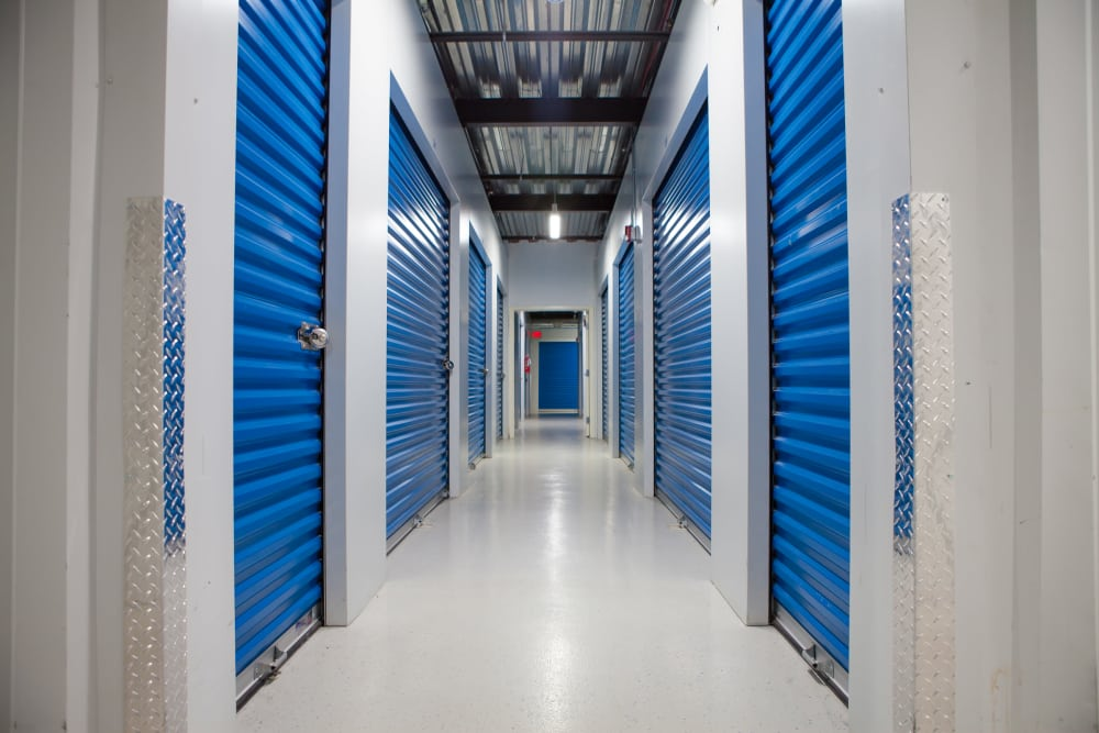 Interior hallway at Atlantic Self Storage
