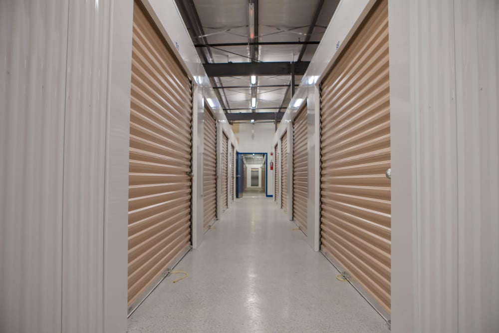 Interior storage units at Atlantic Self Storage