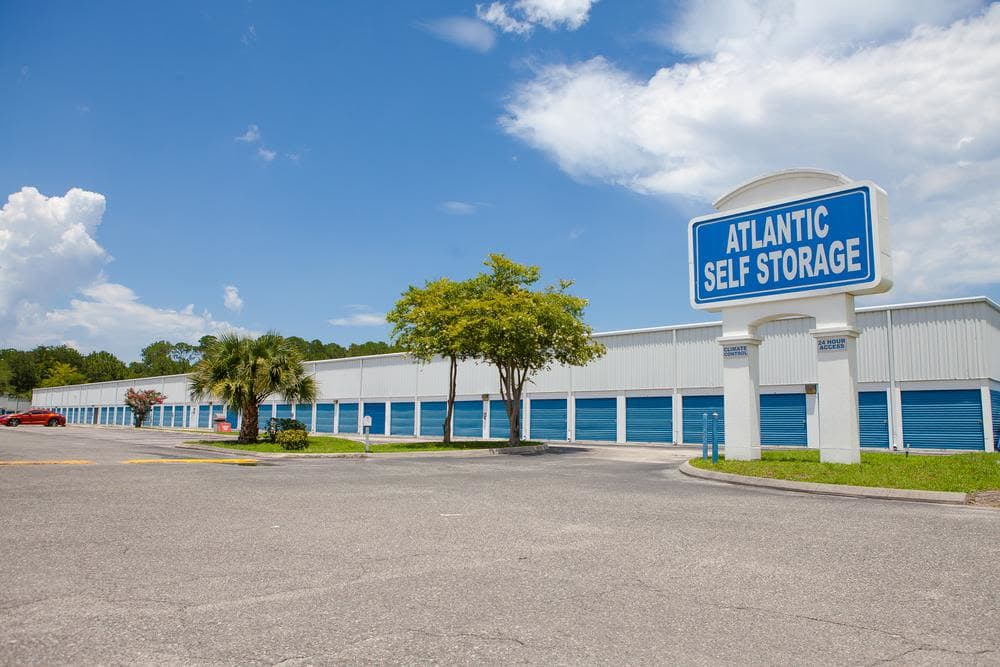 Amplious exterior at Atlantic Self Storage